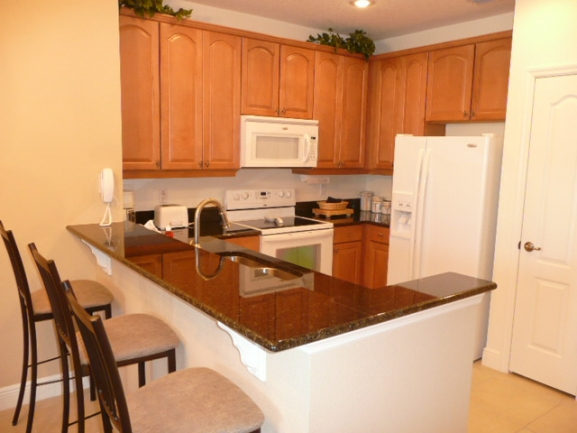 Typical kitchen at Tidelands on the Intracoastal Palm Coast FL