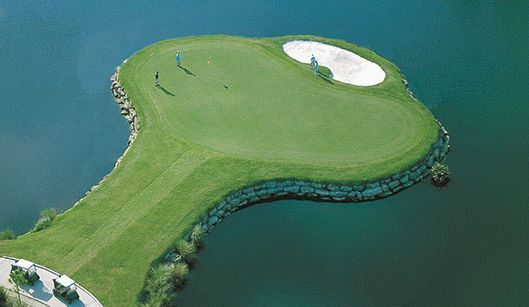 Grand Haven Golf Club Signature hole island green