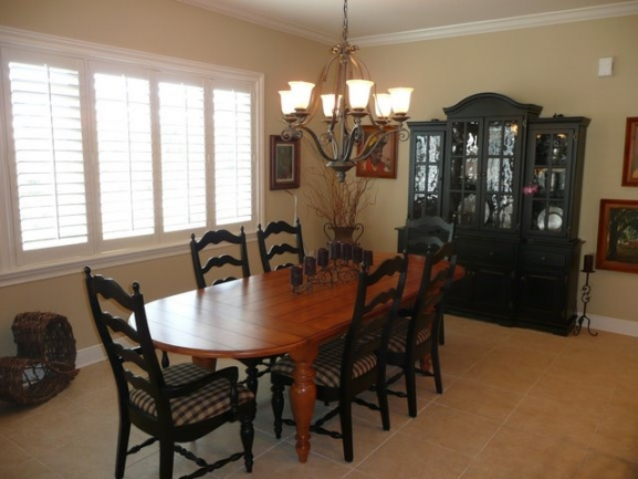 Waterside Condos Palm Coast FL Typical Dinning Room