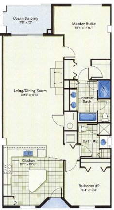 Antiqua surf club floor plan