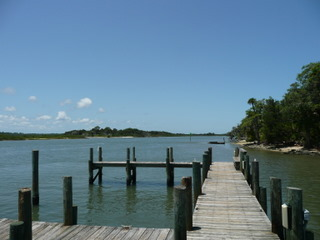 Matanzas Shores day dock on the Intracoastal waterway in Palm Coast